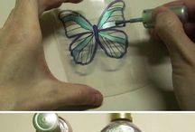 como fazer borboletas