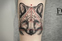 geometric dog tatoo