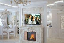 Дизайн интерьера квартиры в стиле неоклассика / Пожелания заказчика: создать дизайн интерьера квартиры в стиле неоклассика.