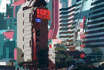 Design Inspiracion / Imagenes de estilo ciberpunk para futuros proyectos