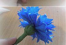Цветы из креп бумаги