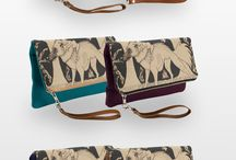 ¤Clutch Bags / Some clutch bags from my Zazzle store,  www.zazzle.com/millakahlosdesigns