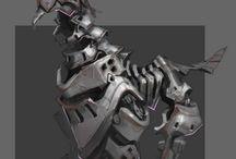 Futuristic monsters/animals