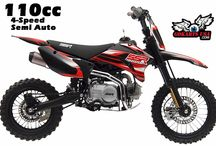 SSR 110TR Pit Bike, 4-Speed Semi-Automatic / 4-Speed Semi-Automatic Clutch, easy for young riders to shift, no need to press the clutch lever lets young riders focus on learning how to shift. compatible with the Honda XR50/CRF50 and tons of aftermarket upgrades. CARB Certified for CA RED sticker