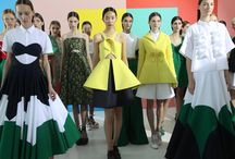 "Colorful details. Delpozo SS15 Collection. / ""This season, color is both a visual component and an architectural element."""