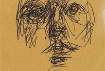 Giacometti Alberto / Storia dell'arte Scultura Disegno Pittura  20° sec. Alberto Giacometti  1901-1966
