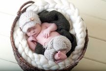 Newborn Photo Props / Handmade wool braids, layering blankets, chunky mats, and more to add a soft and textured background to infant photography sessions.