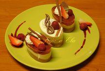 Sladké dezerty , semifreda, banketky, poháre / sladké a slané dobroty