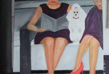 vrolijke schilderijen / alledaagse dingen, soms met een grap