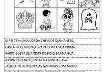 Alfabetização - atividades de leitura
