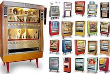 artomat / Art-o-mat® machines are retired cigarette vending machines that have been converted to vend art. There are over 100 active machines in various locations throughout the country. You could be a contributing artist as well! - artomat.org
