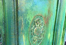 chalk paint + patina