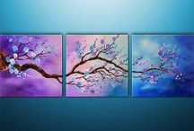 3 piece painting / Paintings