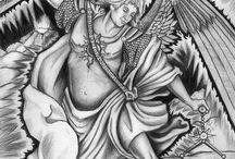 angeles en mandalas