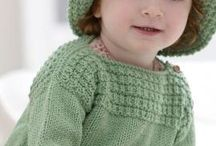 Knitted baby/toddler/children's sweaters / by Bonnie Bouchard Anderson