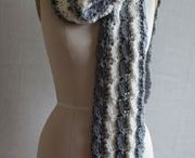 knit/crochet scarves / by Tina Niesen
