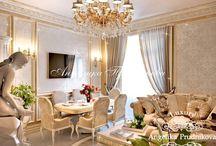 Дизайн квартиры в классическом стиле - Садово-Спасская / Дизайн квартиры на Садово-Спасской выполнен в классическом стиле. Мягкая цветовая гамма пронизывает гостиную, ванну, спальню и детскую комнату. Бежевый, золотистый и белый цвет наполнили все помещения особым домашним теплом. Современная интерпретация классического стиля соединило в одной квартире роскошь и уют.