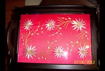 hand embroidery designs / çanta ve baş örtüsü