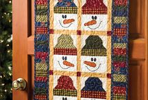 Quilts with snow men