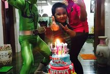 Birthday / Makes my son happy at his 5th age. And i invited power ranger to join the party. My son was so suprised