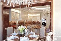 Дизайн-проект интерьера квартиры стиле Ар-Деко в ЖК Виноградный / В интерьере данной квартиры каждый элемент оформления был тщательно подобран. Гостиная выполнена в стиле ар-деко и насыщенна бежевым и светло-коричневым цветом. В дизайне квартиры ЖК «Виноградный» предусмотрено много личного пространства для хозяев и их гостей.  Это позволит людям, которые находятся в квартире чувствовать себя более комфортно.
