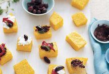 Figs, polenta, cheeses, bites I like