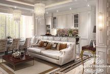 Интерьер квартиры в классическом стиле в ЖК Дубровка / Дизайн интерьера выполнен специально для квартиры в ЖК «Дубровка». Комнаты выдерживают единый классический стиль. Квартира не имеет чрезмерное количество элементов декора, но при этом от неё веет роскошью. В гостиной, спальне, столовой или ванной комнате много света, который отражается от мебели и элементов оформления.