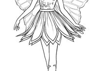 Barbirle colouring pages
