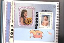 Scrap~Booking / Create beautiful Scrap booking photo pages with charms, ric~rac, torn paper etc...