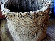 Concrete and Burlap