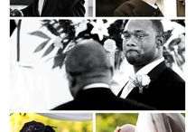 Grooms reacting to their first glimpse of their brides. / The moment a man sees his bride for the first time in all her bridal glory as she walks down the aisle to him is one of the most emotional times a man will express in his life time.