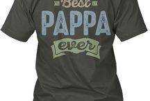 PAPPA TEES / Gift ideas for Pappa! Tees, Hoodies and Long-sleeves available in the style and color of your choice! By Cido Lopez