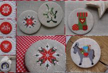 Moje haftowane magnesy/My cross-stitched fridge magnets
