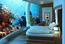 Under The Sea / Aquariums and under the sea designs in interiors, furniture, decor and architecture.