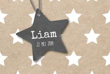 Trend: Stars / Birth announcements where images of stars are used.