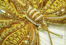 golden beadwork