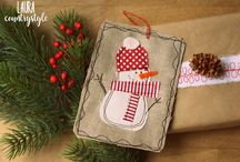 Christmas free patterns, diy and tutorial / Raccolta di cartamodelli gratuiti, tutorial, video tutorial e diy a tema natalizio firmati lauracountrystyle. Original christmas free patterns , diy tuorial and video tutorial by lauracountrystyle