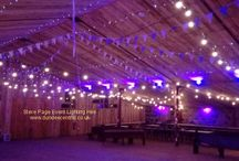 Barn Weddings / Lighting hire services provided by Steve Page Lighting at Barn venues in Eastern Scotland. www.dundeecentral.co.uk