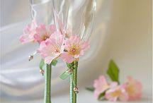 Copos decorados para brindes noivos