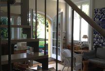 Stairs / Scala in legno e metallo leggera,aerea ,permette di essere attraversata dalla luce in tutti i suoi punti