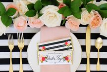 Stripes Soiree / Come enjoy a fun party with dark, rich, winter hues and stripe accents. Drawing inspiration from simple florals and berries.