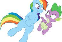 mlp rainbowspike, rarispike, twispike