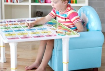 """Kids Foldable Writing Table / """"Take anywhere"""" portable folding/writing table provides convenience and comfort anywhere. The table features a high gloss, easy to clean surface. When not in use, it collapses into an easy-to-transport suitcase size. East to store away. Suitable for both children and adults."""