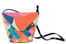 My Mama's Bag - Red is everywhere / Women Leather Handbags, Limited Edition Designer Leather Bag COLOURS OF MY LIFE - Limited Edition wearable art signed by Anca Stefanescu.
