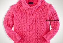 Детские пуловеры, свитера, кофточки спицами и крючком / Курточки, пальто, свитера и пуловеры для любого времени года связаны спицами и крючком для детей