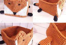 Crochet basket / Koszyki szydełkowe