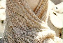 вязание. шарфы, палантины