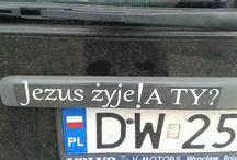 Napisy na samochodach / Teksty znajdujące się na samochodach