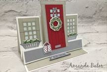 Christmas Cards with front doors