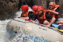 Zambezi White Water Rafting / Victoria Falls is a mile long curtain of water that stretches across the glistening basalt rock, erupts into spray, and then thunders into the canyons below. The walls of basalt rock that capture the mighty Zambezi form one of the great river corridors of the world.The gorge is over 100 meters deep at the Falls and increases to over 200 meters by the end of a full day raft trip. Arguably the wildest white water in the world, rafting on the Zambezi River is an adrenaline rush not to be missed.